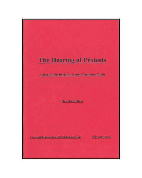The Hearing of Protests