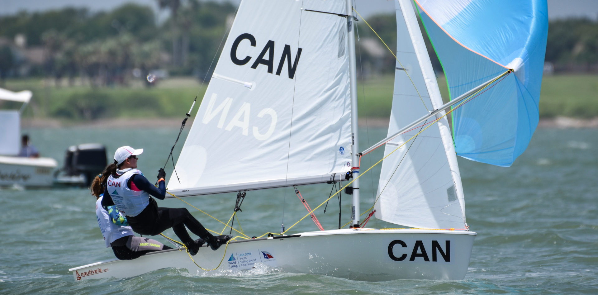 The 48th edition of the Youth Sailing World Championships will see 382 sailors from 66 nations racing in 265 boats across nine disciplines. Corpus Christi, Texas, USA is hosting the 2018 Youth Worlds from 14-21 July 2018.  Tate Howell CANTH19 Madeline Gillis CANMG39 Womens 420  World Sailing James Tomlinson